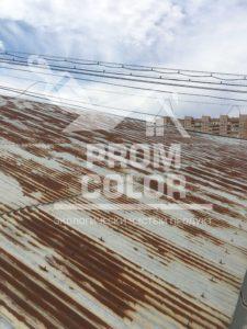 Астрахань крыша склада Рокселл до покраски
