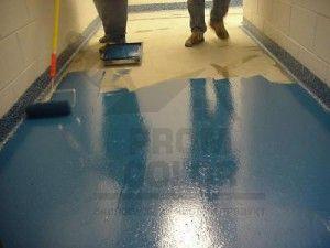 Резиновая краска для бетона
