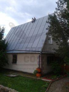 Оцинкованная крыша до покраски