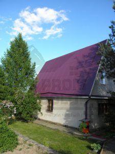 Оцинкованная крыша после покраски