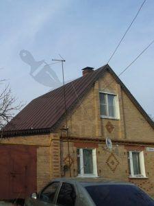 Оцинкованная крыша покрашена резиновой краской цвет «Темный шоколад»