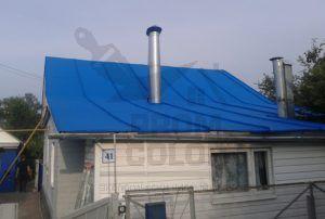 Образец покрашенной оцинкованной крыши, г. Рязань