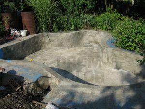 Бассейн бетонный в г. Краснодар, До покраски