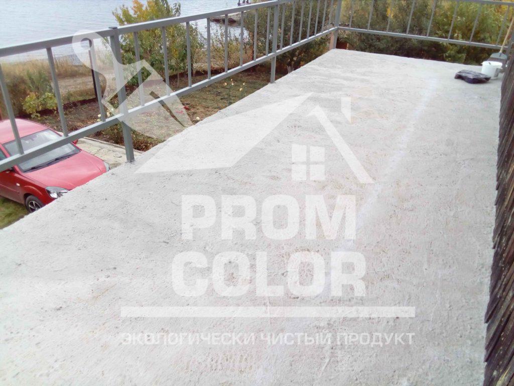 бетонный балкон до покраски резиновой краской