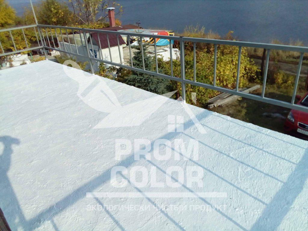 бетонный балкон после покраски резиновой краской