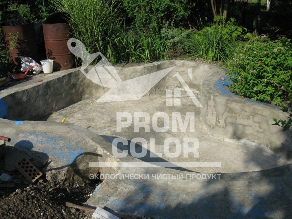 бассейн до покраски резиновой краской